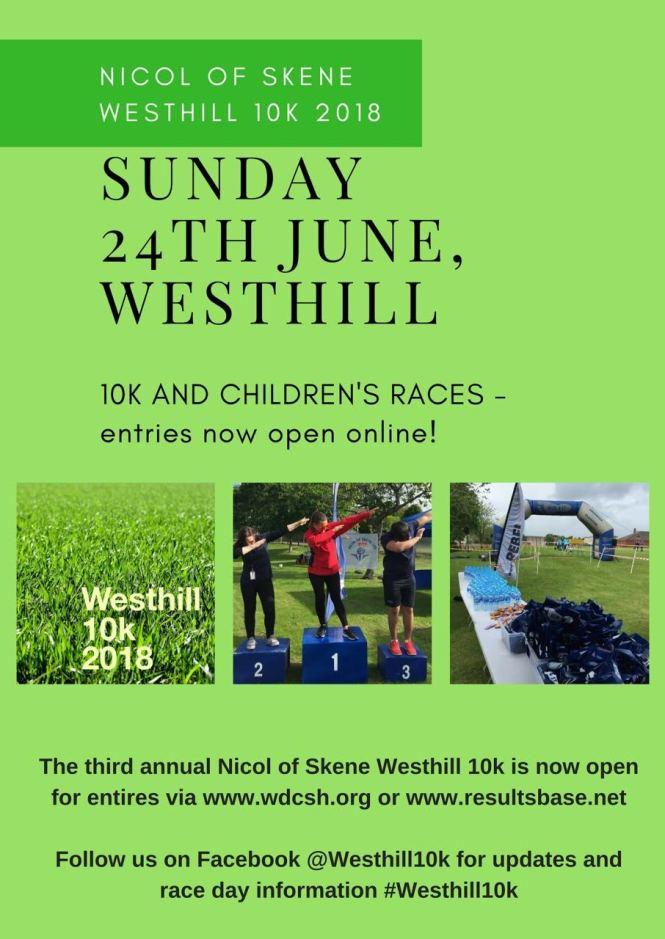 Westhill 10k poster