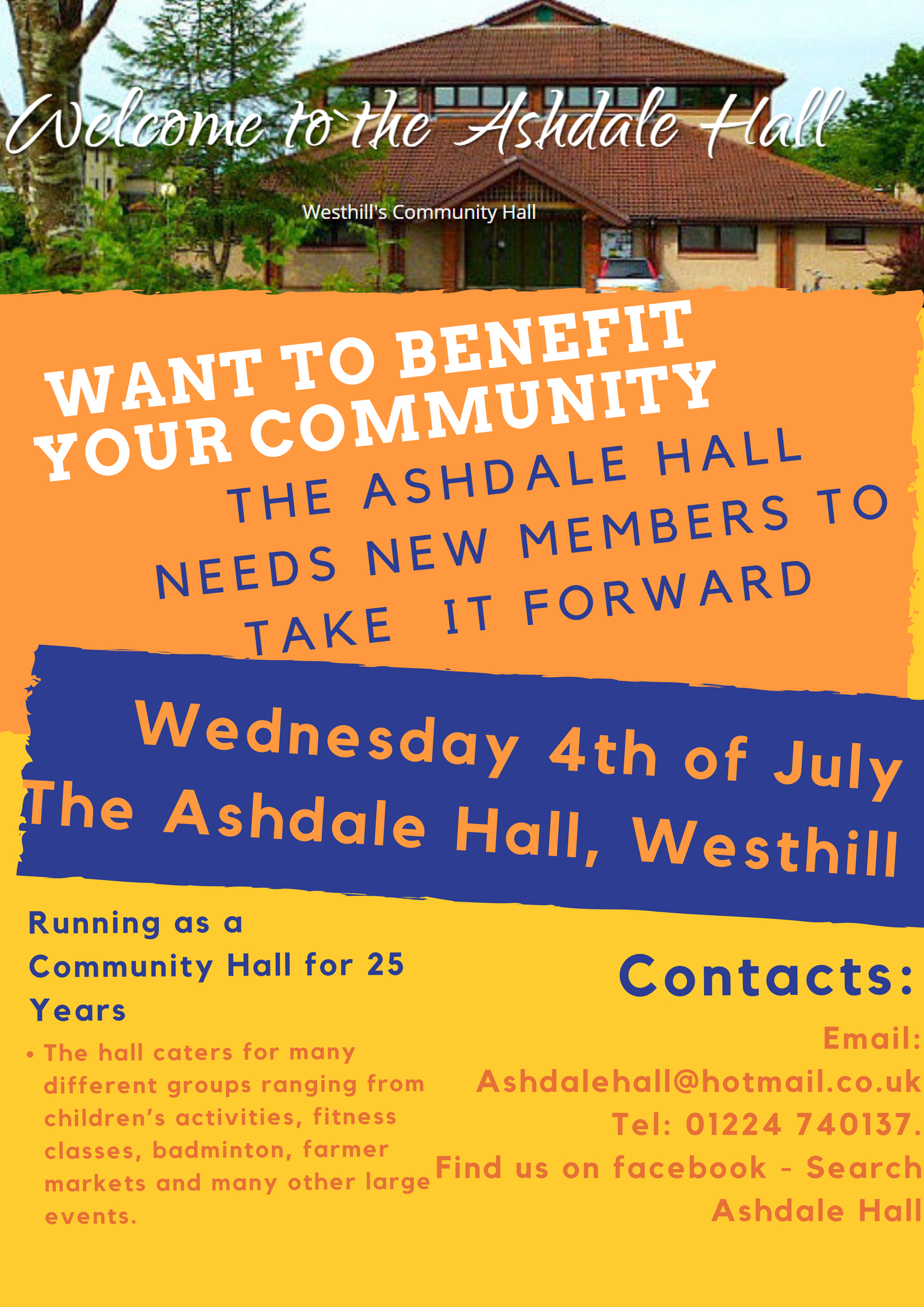 Ashdale Hall Meeting 4th July